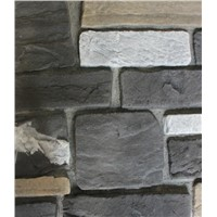 Garden decorative building material black cultured slate corner cladding stone