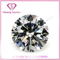 cubic zirconia loose round shape diamond cut cz gems stone