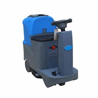 large tank capacity electric ride on floor scrubber