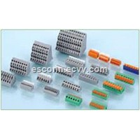 Orange PCB Spring Terminal Block Connector For Printed Circuit Board PCB