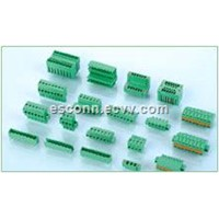 IEC60998 Green Blue 5.08MM Pitch Plug In Terminal Block Connector For PCB , Female