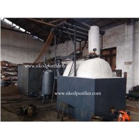 Series JZC black waste oil distillation plant, oil recycling machine
