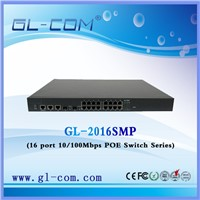 Fiber optic 16 port FTTX poe switch