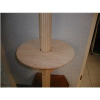 Solid Wood Shelf Set for Pole/Column Covering and Decoration