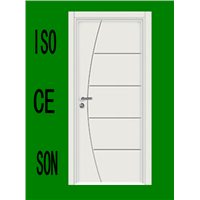Solid Wooden Veneer Door(F-267)