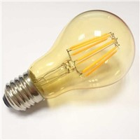 Led filament bulb A60 8W amber glass smoke color