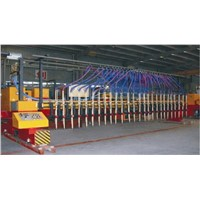 Multi-head strip gas cutting machine