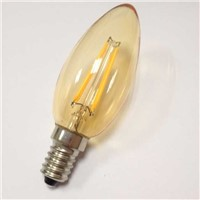 Candle lamp Led filament bulb C35 4W amber golden smoke