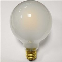 Dimmable globe lamp G95 8W 220VAC LED filament bulb light E27 Frosted glass Edison lamp holder