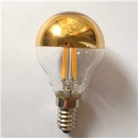 half chrome golden  Globe lamp G45/G16 led filament bulb