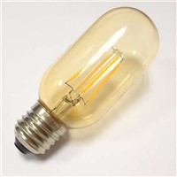 Led filament bulb T45 4W tube lamp amber glass