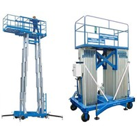 Double Mast Mobile Aluminum Aerial Work Platform with 200kg Capacity