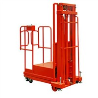 Electric Order Picker Stacker with 750kg Capacity and 2.7m Lifting Height