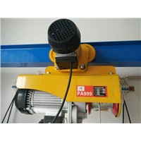 PA type Mini wire rope Electric hoist 100kg to 1000kg
