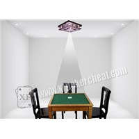 Poker Cheating Devices Glass Silver Ceiling Backside Scan Lamp For Marked Playing Cards