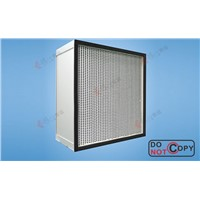 high efficiency particular air filter with separators