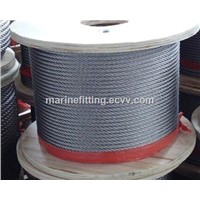 galvanised steel wire rope factory 6x19+fc