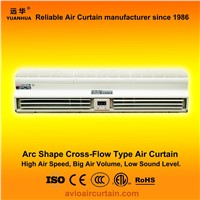 Arc shape cross-flow air curtain (air door) FM-1.25-09B