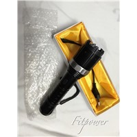 Electric Shock Stun Taser aluminium flashlight  with Rechargeable Battery (8810)