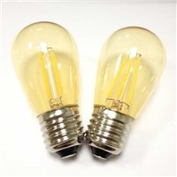 amber gold smoke glass S14 4W led filament bulb