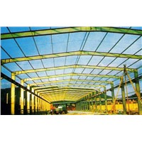 color steel structure prefab  workshop