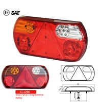 E-mark Rectangle LED Combination Tail Lamp CL-L296