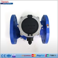 Dual track battery-operated ultrasonic water flow meter