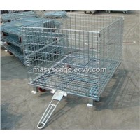 Detachable Collapsible Warehouse Steel Wire Mesh Container