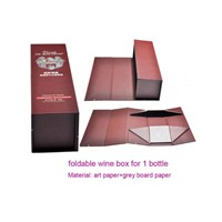 foldable paper wine box with magnet close in custom make