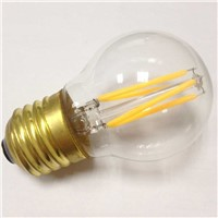 High quality Globe led lamp G45 4W E26 brass base led filament bulb lighting