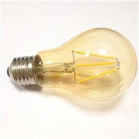 vintage retro old style amber glass A19/A60 E26/E27 4W LED filament light bulb