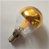 half gold plated glass G45 4W led filament bulb