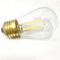filament led S14 2W E26 brass base clear glass led filament bulb lighting