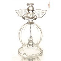 Fashion Transparent Glass Angel Bell Series Christmas Day Glass Pendants Angel