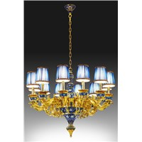 """World Style"" Cloisonne Ceiling Lamp"