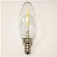 candle lamp sale by bulk C35 E14 1W led filament lighting