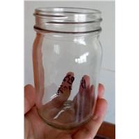 210ml glass bottle jar wide mouth