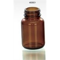 60ml amber glass bottle wide mouth pharma