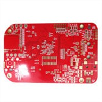 4 Layer Immersion Gold Red Solder Mask Printed Circuit Board