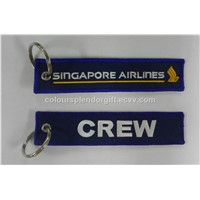 Wholesale Aviation Singapore Airlines Crew Keychain Key Chain Luggage Pilot Tags