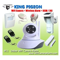 Wireless  Indoor Wifi Camera Alarm + GSM /3G W11