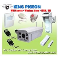 Wireless Outdoor WiFi Camera Alarm +GSM/3G with video alarm, remote monitoring, HD camera recording