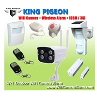 Wireless anti-theft  Outdoor WiFi Camera Alarm + GSM/3G W21