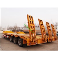 tri-axle Lowbed semi trailer with pins