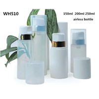 150ml 200ml 250ml Plastic White PP White Cosmetic Airless Pump Bottle