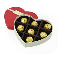 Popular heart shaped Chocolate Box with Tray and Corrugated Paper