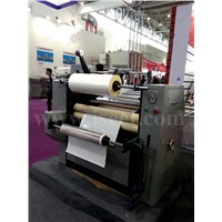 Lamination machine with roll collector Model YFME