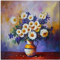 Impression Flower Oil Painting Canvas Art