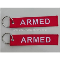 Armed Embroidery Keychain Key Chain Accept Custom as Your Design