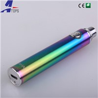 2015 Hottest bottom 5pin passthrough battery vacuum coating HAHA battery